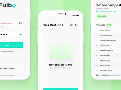 Football App montserrat clay mockup mockups list empty state account create match ios soccer football app football