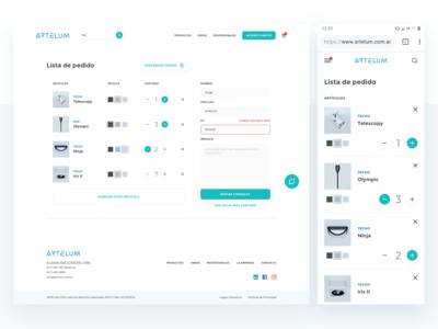 Lighting e-commerce - Checkout