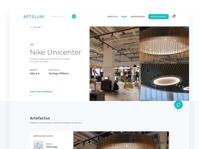 Lighting e-commerce - Detail