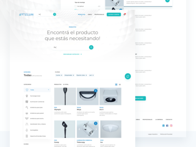 Lighting e-commerce - Search / Product List