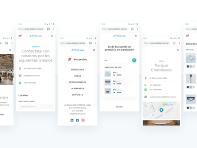 Lighting e-commerce - Responsive Screens
