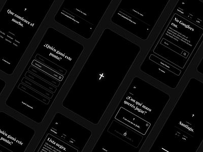 CENSJ App playfair display playfair card game app design card negro humor dark black ios android app