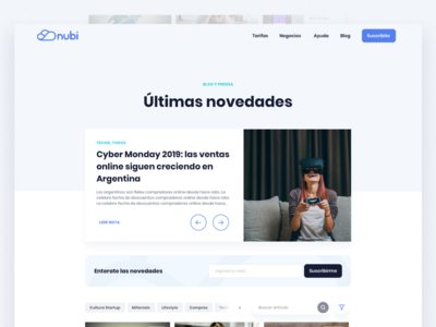 Nubi Marketing Website - Blog & Elements
