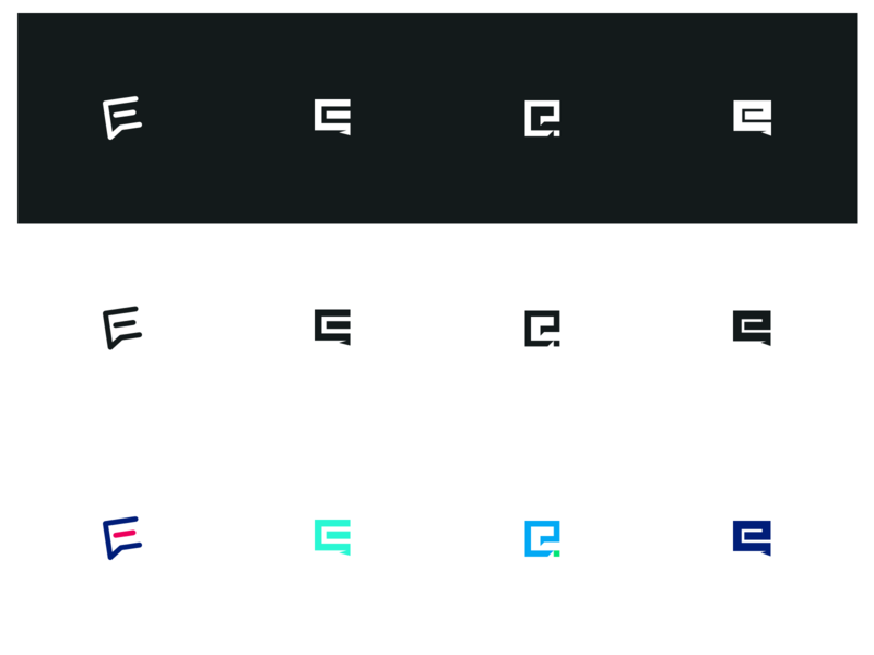 E Monogram Logos message logotype text chat bubble dialog proposal e monogram logos logo