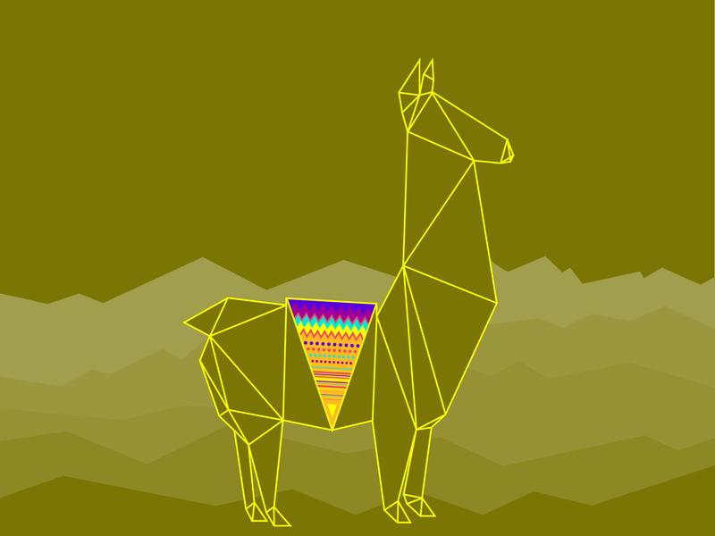 Llama llama vector art illustration