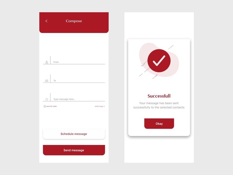 SMS marketing app dailyui uiuxdesigner app ux ui uiuxdesign design