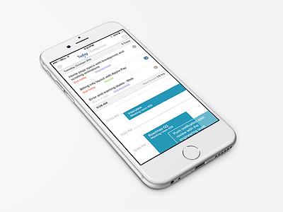 Workday Dashboard iphone 6 homepage ios app