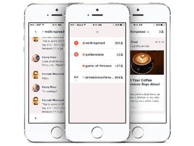 Group Messaging App iphone dashboard messaging ios