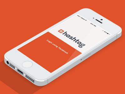 Messaging App Landing Page iphone ios landing page login