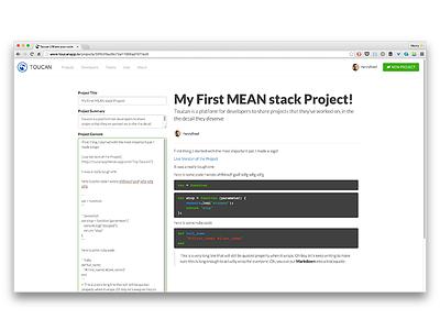 Toucan - Edit Page writing editing desktop web