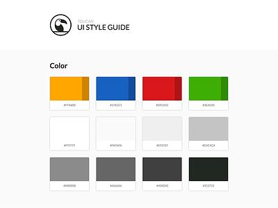 Toucan UI Style Guide toucan color styleguide