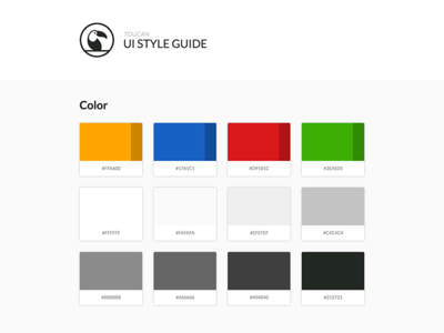 Toucan UI Style Guide toucan color styleguide