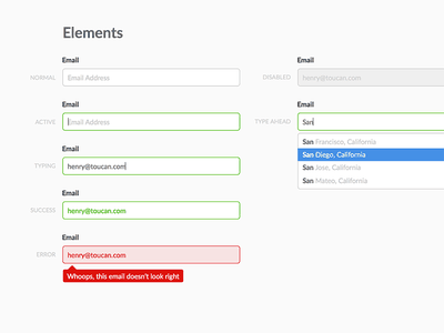 Styleguide - Forms forms style guide ui
