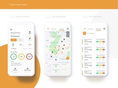 App Redesign points maps filters tags mobile user experience cards dashboard