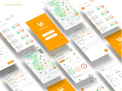 App Redesign picker location maps tags ui design chart