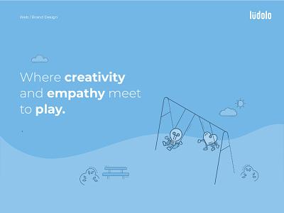 Landing Design landing page ui lines fun empathy creativity illustration landing