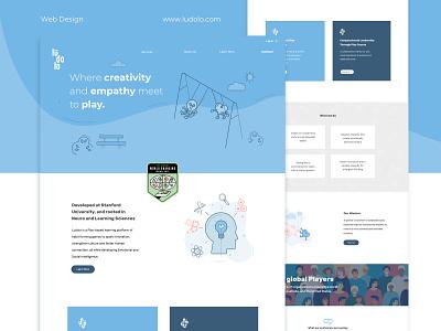Web Design landing page ui landing page fun empathy web design