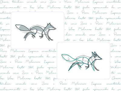 Guará Brand fox logo linestyle brand brand identity concept naming logo app vector illustration icon design branding