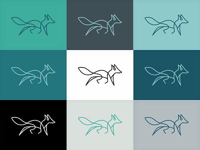 Guará Brand colors fox brand identity color palette naming vector illustration icon logo design branding