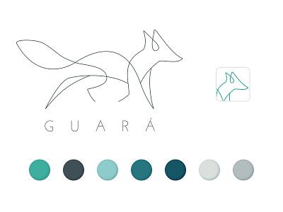 Guará Brand concept color palette illustration brand identity naming logo icon typography design ui ux branding
