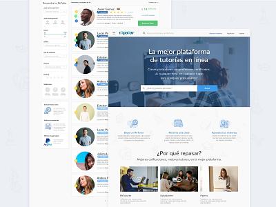 Educational Web Design education educational profile box design filters landing search online responsive ui  ux ui design web desktop