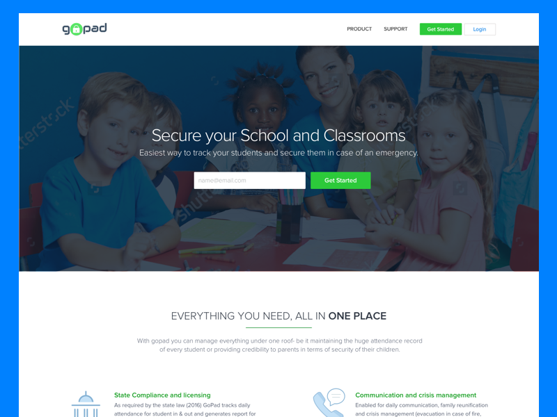 gopad website by Subhash Kapoor for Quovantis on Dribbble