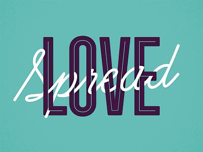Spread Love, it's the Firespring way. inline script plum teal juicy biggie smalls illustration vector biggie love spread love