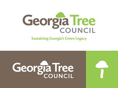 Georgia Tree Council Logo icon green sustainability forest logo tree georgia