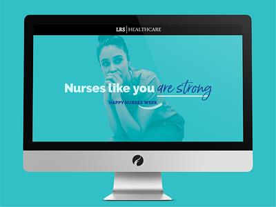 LRS Nurses Week Landing Page web design website health care healthcare health campaign landingpage landing page nurses nurse