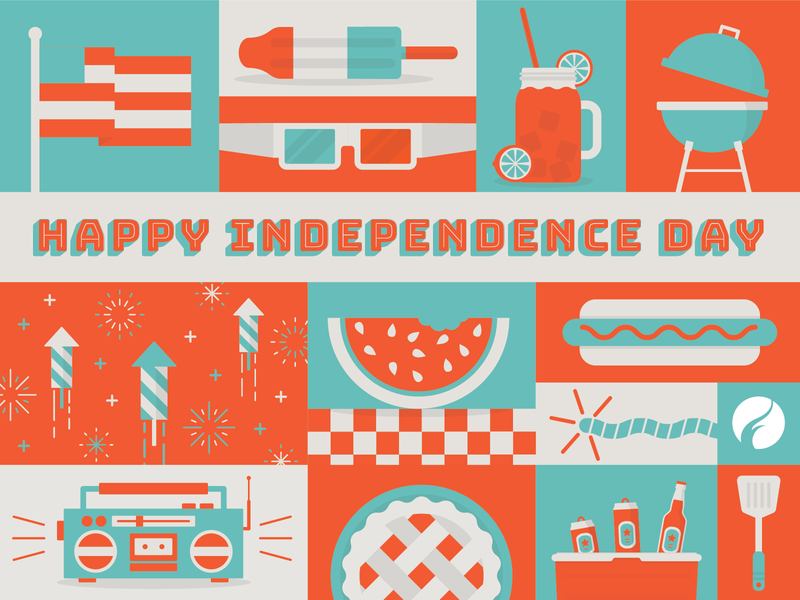 Independence Day watermelon usa popsicle pie july independence day illustration hot dog grill fourth of july food flag fireworks cookout boombox bomb pop americana america 4th of july 4th