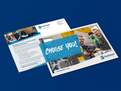 SCC Recruitment Campaign education community college mockup academics campaign you choose school college university mailer admissions recruitment student direct mail