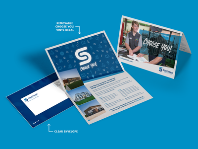 SCC Folded Mailer education mockup you choose campaign recruitment academics university school college community college sticker decal mailer direct mail