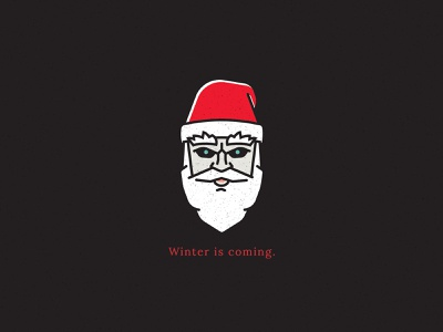 Night Clause vector illustration winter is coming winter got game of thrones night king santa clause holiday card holidays