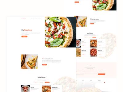 Pizzeria - Restaurant Website Template website web design ux ui