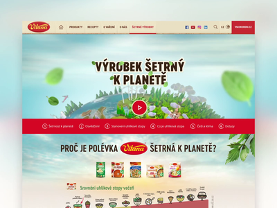 Vitana – Enviromental Friendly Product herbs leaf earth 3d website sustainability ecology soup landing page planet carbon footprint food