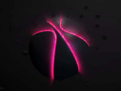 inCUBE is in the game now! 3d graphics motion logo dribbble debut cube ball animation