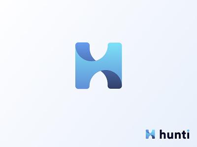 Hunti Alternative Logo ui minimalist logo figma design flat minimal typography vector branding logo
