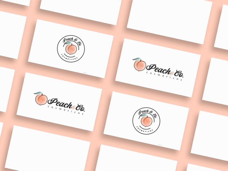 Peach&Co. Cosméticos - Branding logo design custom design website design shopify