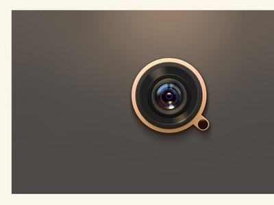 Camera lens branding icon ui