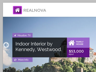 Real Nova Homescreen real estate theme real estate ui