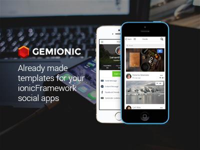 Gemionic - Social Ionic App Theme ionicframework mobile app html ui pack