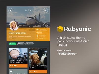 Rubyonic Profile mobile ui pack ionicframework mobile ui