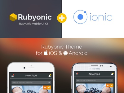 Rubyonic Plus Ionic Coming Soon ionic ionicframework mobile ui kit html mobile kit