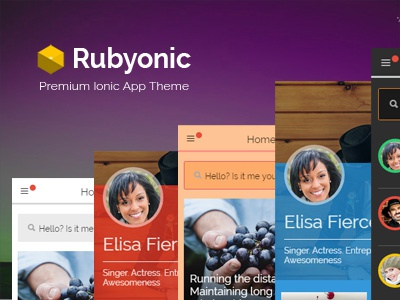 Rubyonic Now Available html mobile kit mobile ui kit ionicframework ionic