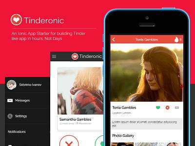 Tinderonic - Now available ionic ionicframework tinder