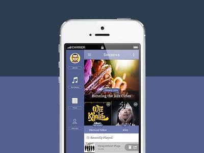 Sounova Work in progress radio app ui music ui mobile app design mobile app ui ionic ionicframework