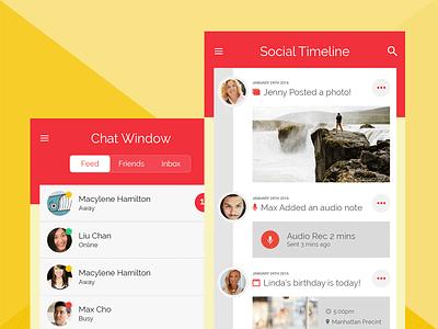 Gemionic Redesign social app ui social ui mobile app design mobile app ui ionic ionicframework