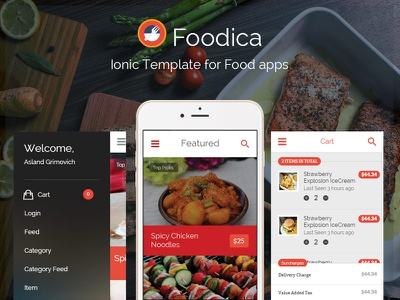 Foodica IonicFramework theme for food apps now available food app ionic ionicframework