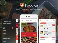 Foodica IonicFramework theme for food apps now available