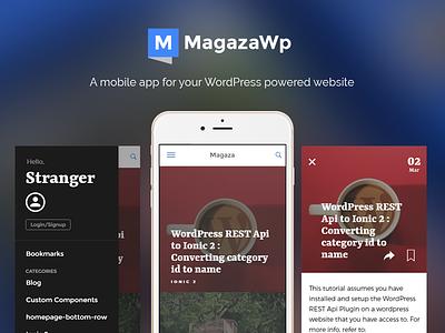 Magaza Wordpress Mobile app news app ionicframework ionic 2